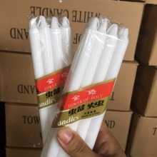 Paraffin Wax Decorative Thin Taper White Candles