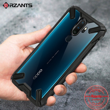 Military airbag Anti-fall shell Case OPPO A9 2020 Clear Acrylic PC +TPU Shockproof Armor Back Cover Oppo A5 2020 Case