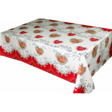 Transfer Printing Tablecloth with Silver/Gold target