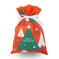 Red Christmas Tree Non-woven Gift Wrapping Bags