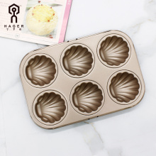 6 Cups Non-stick Madeleine Shell Baking Pan