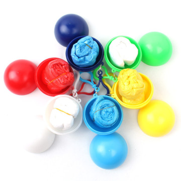 Disposable Promotional Plastic ball rain poncho