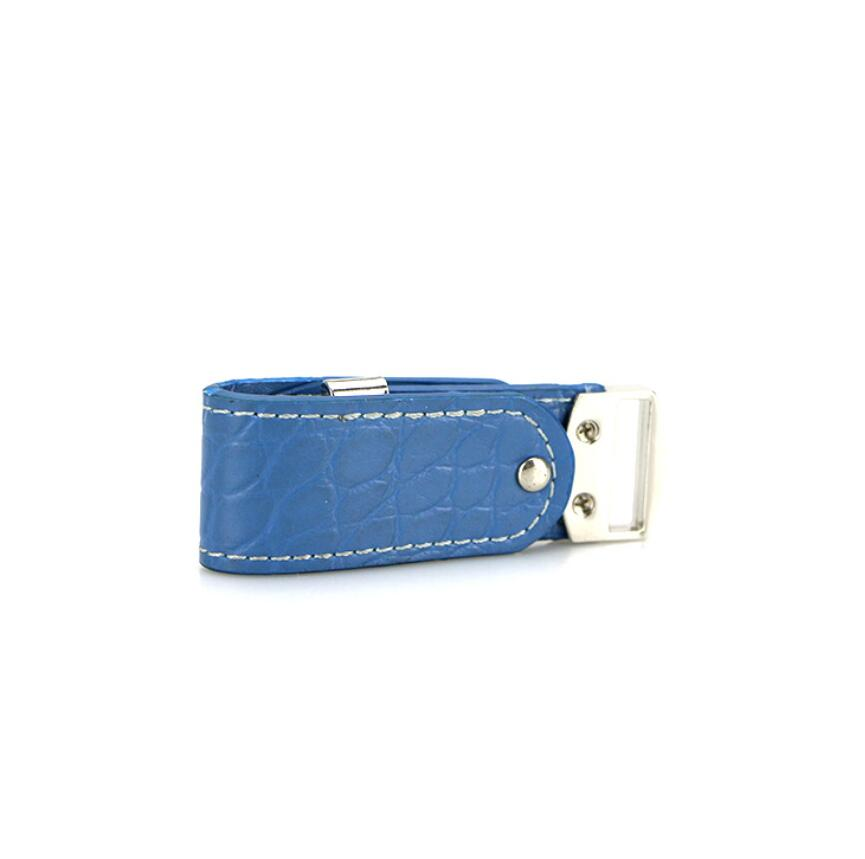 blue leather usb flash drive