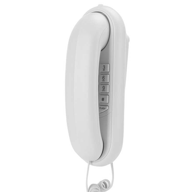 Fixed Landline Telephone Corded Desktop Wall-mounted Telephone Mini Extension Home Phone for Family Hotel Office Use