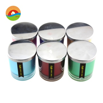 OEM Wax soya wangi 3 Wicks Lilin