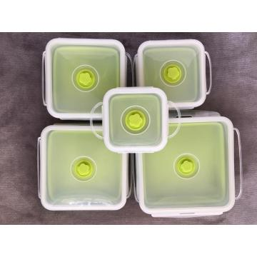 Crisper food grade silicone bento lunch box containers