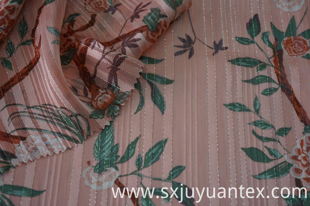Silver Lurex Stripe Dobby Fabric