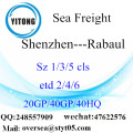 Shenzhen Port Sea Freight Shipping To Rabaul