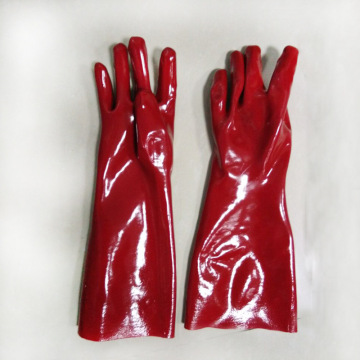 Red Pvc Coatd Glove Jersey Liner.. 45cm