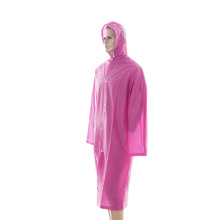 pink long size pvc riancoat