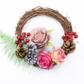 3/6Pcs Rattan Ring Artificial Flowers Garland Dried Flower Frame Home Christmas Decoration DIY Floral Wreaths 10/20/30/40cm