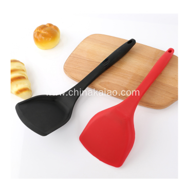 OEM Silicone Utensil Cookware Nylon Core Turner with Long Handle