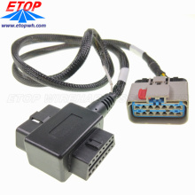 custom truck diagnostic J1962 OBD2 coverter cable with APEX 2.8MM connector