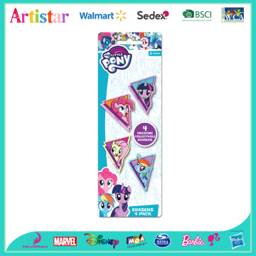 MY LITTLE PONY 4 pack erasers