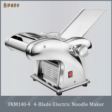 FKM140 series electric noodle maker with 1/2/3/4 blade stainless steel dough sheeter dough roller automatic pasta maker machine