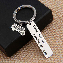 Key Chain Gift Engraved Thank You For Keeping Me Safe School Bus Driver Appreciation Bus Driver Gift Appreciation From Students