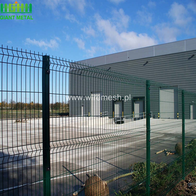 PVC Coating Triangle Bending Welded Wire Mesh Fence
