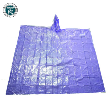 disposable PE children rain poncho