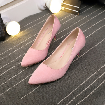 2019 Women's Pointed Toe Middle Heel Shoes