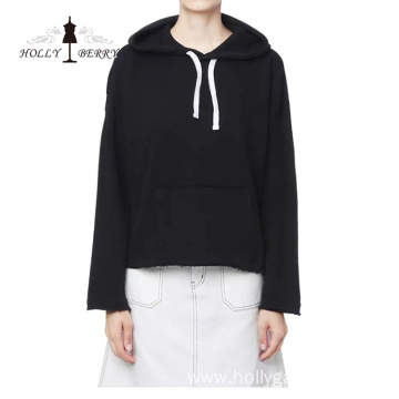 Guaranteed Quality Lightweight Regular Black White Hoodie