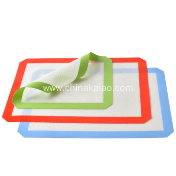 Customize Colour Food Grade Fiberglass Silicone Baking Mat