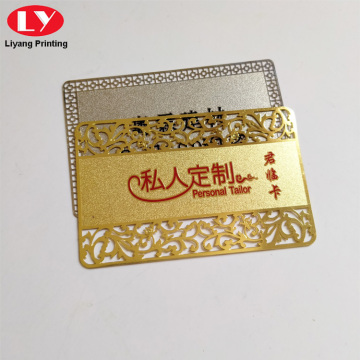 Customize Metal Business Cards Printing PVC Metalic Card