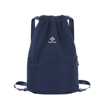 Custom Logo Printed Waterproof Oxford Fabric Drawstring Backpack Bag