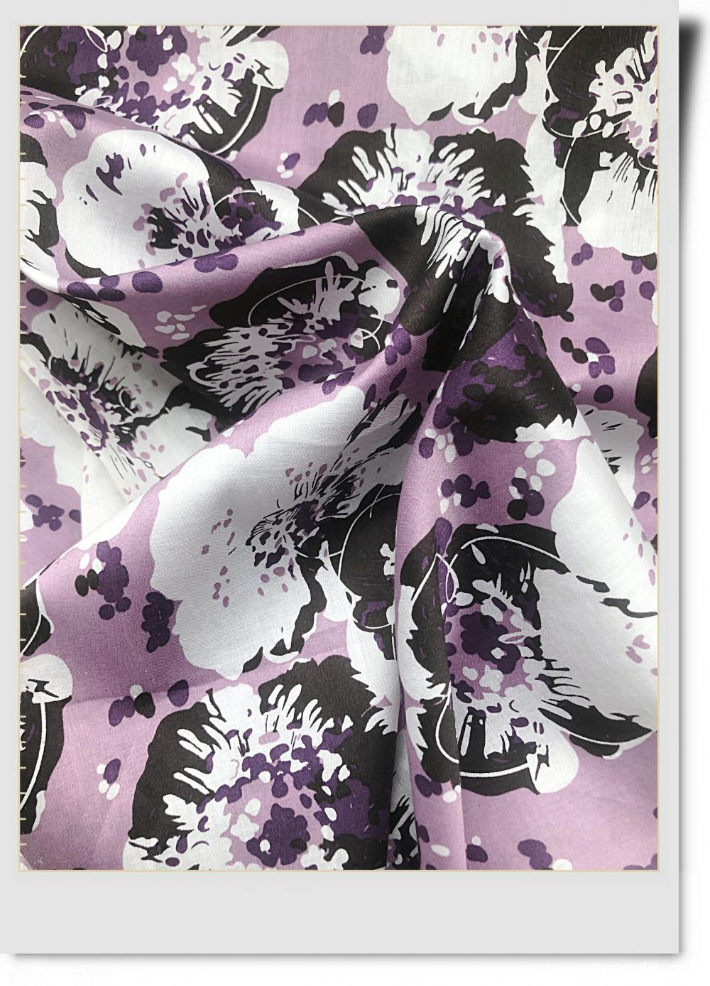High Density of Cotton Sateen Print Fabric