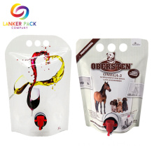 Laminated Custom Resealable Wine Bag With Spout Tap