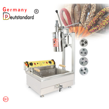 commercial manual churro machine with 30L fryer