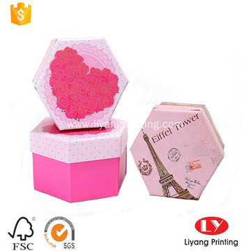 hexagon cardboard gift paper packaging box