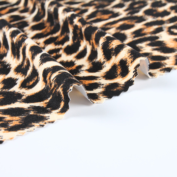 Leopard Printed Double Knit Jersey DTY Fabric