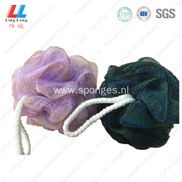 flower loofah baby shower bath sponge with soap