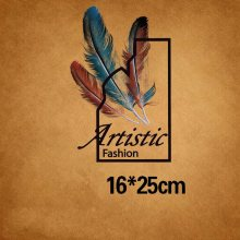 16x25cm feather letter Iron on Patches For DIY Heat Transfer Clothes T-shirt Thermal transfer stickers Decoration Printing