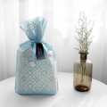 Blue Non-woven Bag With Wrapping Ribbon
