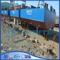 Marine float pontoons for dredging construction