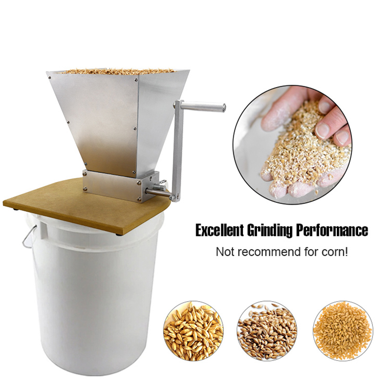 Malt-Mill-Home-Brewing-Crusher-for-Malt-with-Hopper-SS-304-2-Roller-Grain-Barley-Grinder