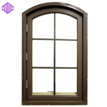 Lingyin Construction Materials Ltd Vertical Grill Design Aluminum Casement Window Price For Nepal Market.