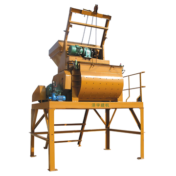 Twin shaft 0.5m3 JS series JS500 concrete mixer