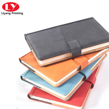 notebook a5 soft PU and leather custom book