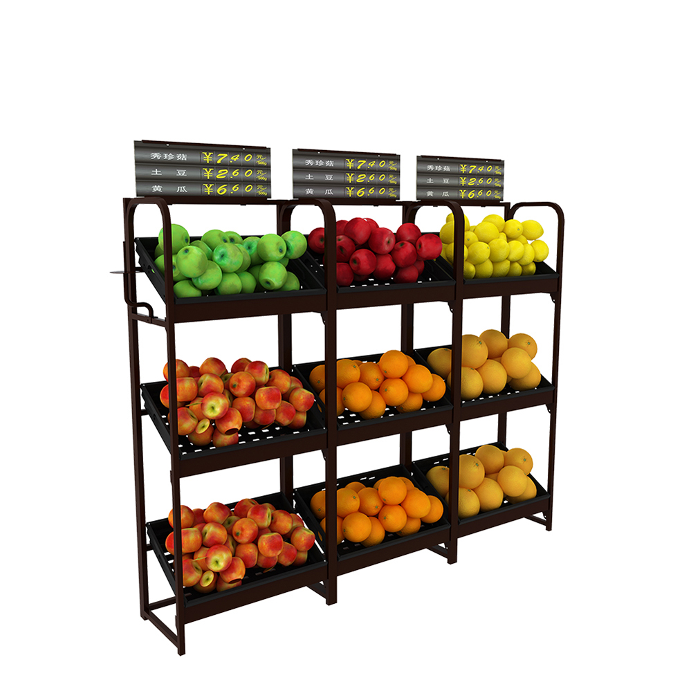 Retail Fruit Display Rack
