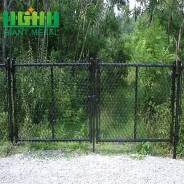 PVC Green coated chain link fence panel