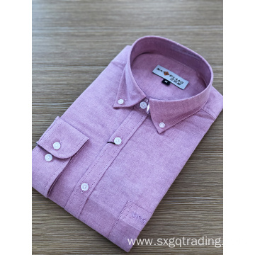 Bright color button-down male long sleeve shirt