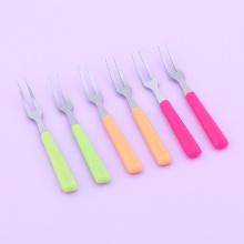 6pcs/set Stainless Steel Fruit Forks Set for Cake Salad Cocktail Dessert Forks Kitchen Accessories 52095 Gift