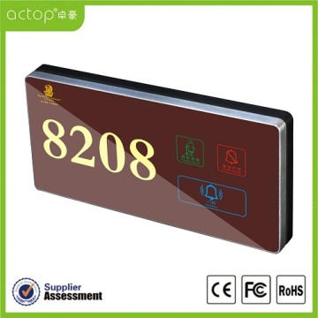 Illuminated Digital Door Plate