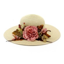 Custom logo cap summer beach straw hat