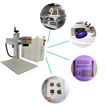 Cnc portable Fiber Laser Marking Machine 50w With Rotary Axis