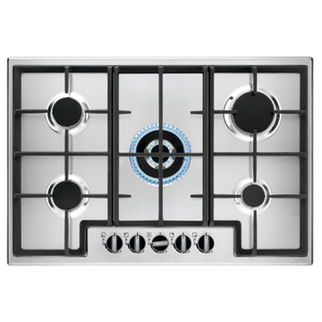 Gas Hobs Zanussi UK Built-in 5 Rings