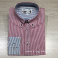 Men's yarn dyed 100% cotton long sleeve shirt