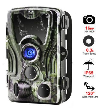 HC801A Hunting Camera 16mp 1080p Ip65 Night Version Trail Cameras Photo Traps 0.3s Trigger Waterproof Wildlife Wireless Camera